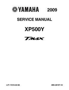 YAMAHA SCOOTER TMAX 2009-2011  Workshop & Repair manual | Documents and Forms | Manuals