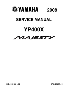 YAMAHA SCOOTER MAJESTY 2008-2014  Workshop & Repair manual   Documents and Forms   Manuals