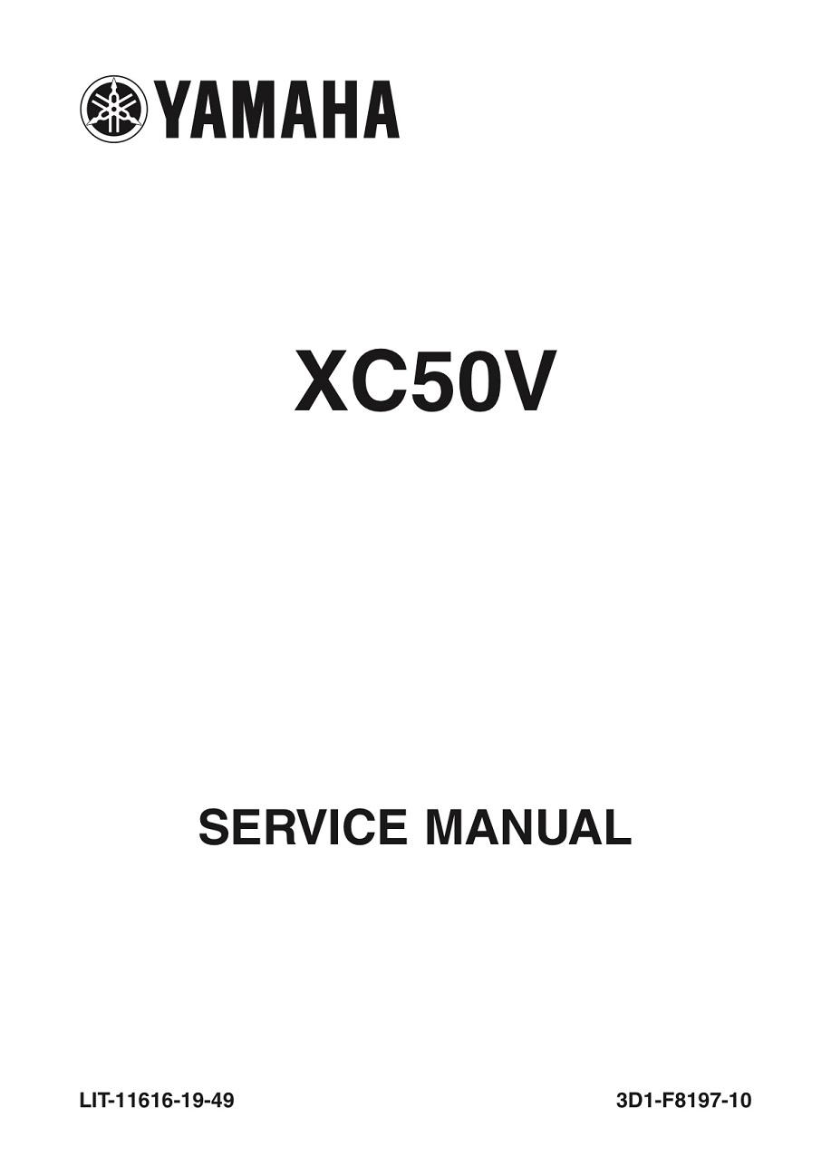 Yamaha Scooter Vino 50 Classic Workshop  U0026 Repair Manual