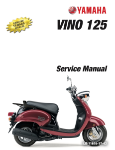 YAMAHA SCOOTER VINO 125 2009  Workshop & Repair manual | Documents and Forms | Manuals