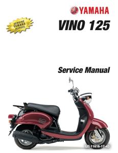 yamaha scooter vino 125 2009  workshop & repair manual