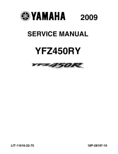 YAMAHA ATV YFZ450R 2008-2013  Workshop & Repair manual | Documents and Forms | Manuals