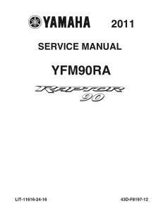 yamaha atv raptor 90 2011-2013  workshop & repair manual