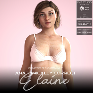 anatomically correct: elaine for genesis 3 and genesis 8 female