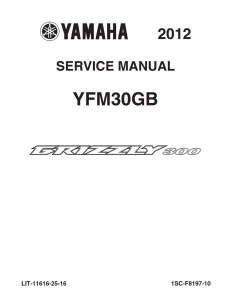 YAMAHA ATV GRIZZLY 300 2012-2013  Workshop & Repair manual | Documents and Forms | Manuals