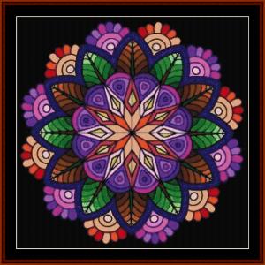 mandala 47 cross stitch pattern by cross stitch collectibles