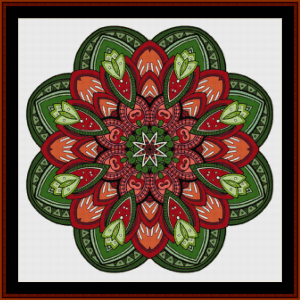 Mandala 48 cross stitch pattern by Cross Stitch Collectibles | Crafting | Cross-Stitch | Other