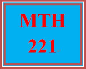 MTH 221 Wk 5 - Final Exam | eBooks | Education