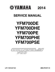 YAMAHA ATV GRIZZLY 700 EPS 4WD  Workshop & Repair manual | Documents and Forms | Manuals