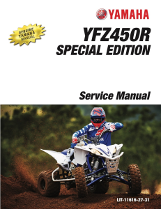 YAMAHA ATV YFZ450R SPECIAL EDITION  Workshop & Repair manual | Documents and Forms | Manuals