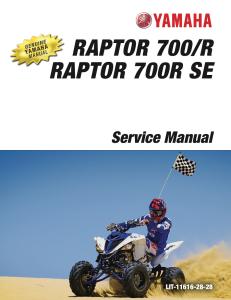 yamaha atv raptor 700 2015-2020  workshop & repair manual