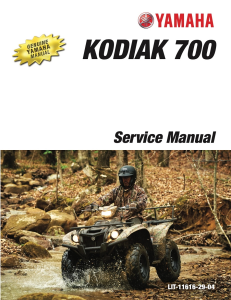 YAMAHA ATV KODIAK 700 4WD 2016  Workshop & Repair manual | Documents and Forms | Manuals
