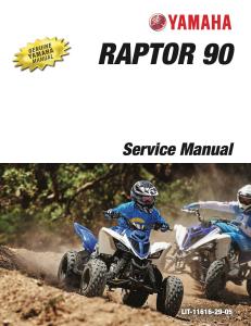yamaha atv raptor 90 2015  workshop & repair manual