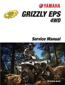 yamaha atv grizzly eps 4wd 2017  workshop & repair manual