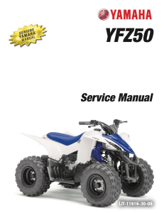 YAMAHA ATV YFZ50 2017-2018  Workshop & Repair manual | Documents and Forms | Manuals