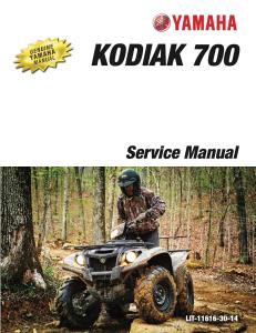 yamaha atv kodiak 700 4wd  workshop & repair manual