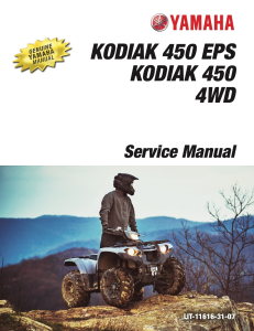 YAMAHA ATV KODIAK 450 2018-2020  Workshop & Repair manual | Documents and Forms | Manuals
