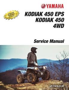 yamaha atv kodiak 450 2018-2020  workshop & repair manual