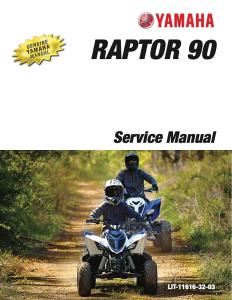 yamaha atv raptor 90 2019-2020  workshop & repair manual
