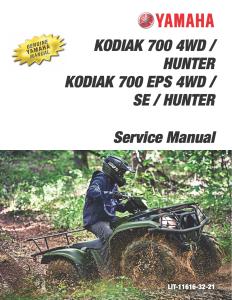 yamaha atv kodiak 700 4wd 2019  workshop & repair manual