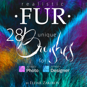 Realistic FUR Brushes for Affinity Photo & Designer | Software | Add-Ons and Plug-ins