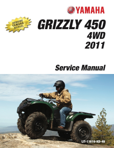 YAMAHA ATV GRIZZLY 450 4WD 2011 Workshop & Repair manual | Documents and Forms | Manuals