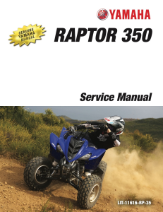YAMAHA ATV RAPTOR 350 2008-2015 Workshop & Repair manual | Documents and Forms | Manuals