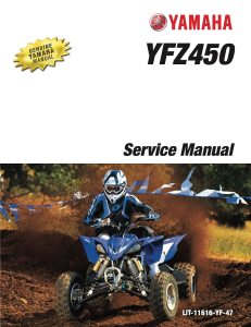 YAMAHA ATV YFZ450 2013 Workshop & Repair manual | Documents and Forms | Manuals