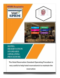 Hotel Reservation - S.O.P | eBooks | Education