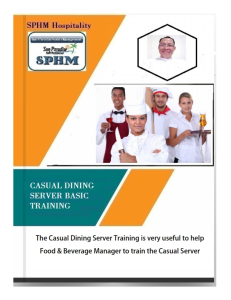 golf casual dining server basic training