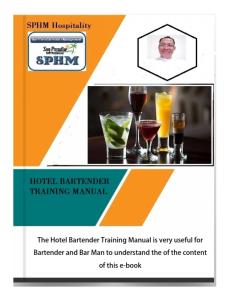 hotel bartender training manual