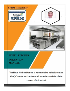 hotel kitchen operation manual