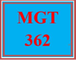 MGT 362T Week 1 Practice: Wk 1 - Quiz | eBooks | Education