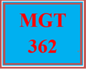 mgt 362t week 1 apply: wk 1 - change management: a fresh new idea