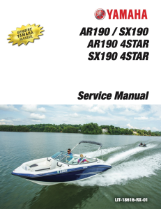 YAMAHA BOAT SX190 SX190 4STAR  Workshop & Repair manual | Documents and Forms | Manuals
