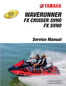 YAMAHA WAVERUNNER FX SVHO Workshop & Repair manual | Documents and Forms | Manuals