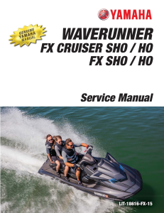 YAMAHA WAVERUNNER FX HO Workshop & Repair manual | Documents and Forms | Manuals