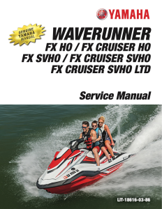 YAMAHA WAVERUNNER FX HO 2019 Workshop & Repair manual | Documents and Forms | Manuals