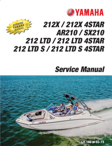 YAMAHA BOAT SX210 212X 212 LTD 2018 Workshop & Repair manual | Documents and Forms | Manuals
