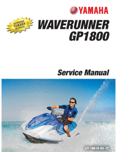 YAMAHA WAVERUNNER GP1800 Workshop & Repair manual | Documents and Forms | Manuals