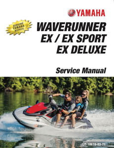 YAMAHA WAVERUNNER EX 2017-2020  Workshop & Repair manual | Documents and Forms | Manuals