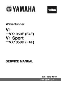 YAMAHA WAVERUNNER V1 2016 Workshop & Repair manual | Documents and Forms | Manuals