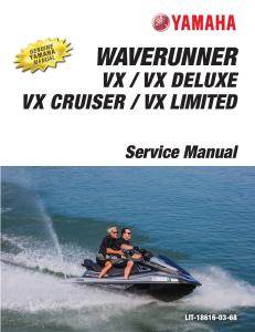 yamaha waverunner vx 2016-2018 workshop & repair manual