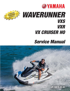 YAMAHA WAVERUNNER VXR  VXS  Workshop & Repair manual | Documents and Forms | Manuals
