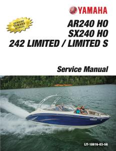 yamaha boat sx240 ar240 workshop & repair manual