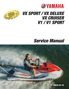 yamaha waverunner  vx sport  workshop & repair manual
