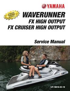 yamaha waverunner fx ho  workshop & repair manual