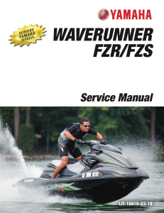 yamaha waverunner fzr fzs  workshop & repair manual