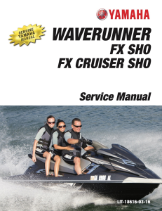 yamaha waverunner fx sho  workshop & repair manual