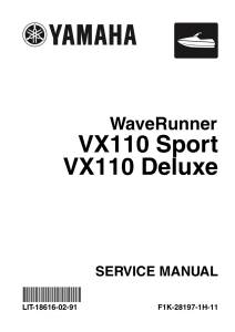 YAMAHA WAVERUNNER VX CRUISER  Workshop & Repair manual | Documents and Forms | Manuals